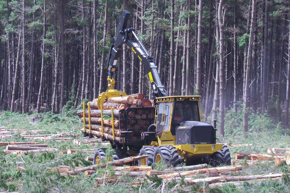 Tigercat 1085C forwarder in Fennell Forestry operations.