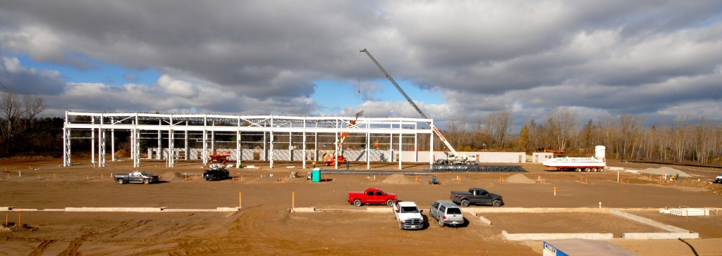 Construction underway at 160 Consolidated Drive in Paris, Ontario (as of November 7, 2014).