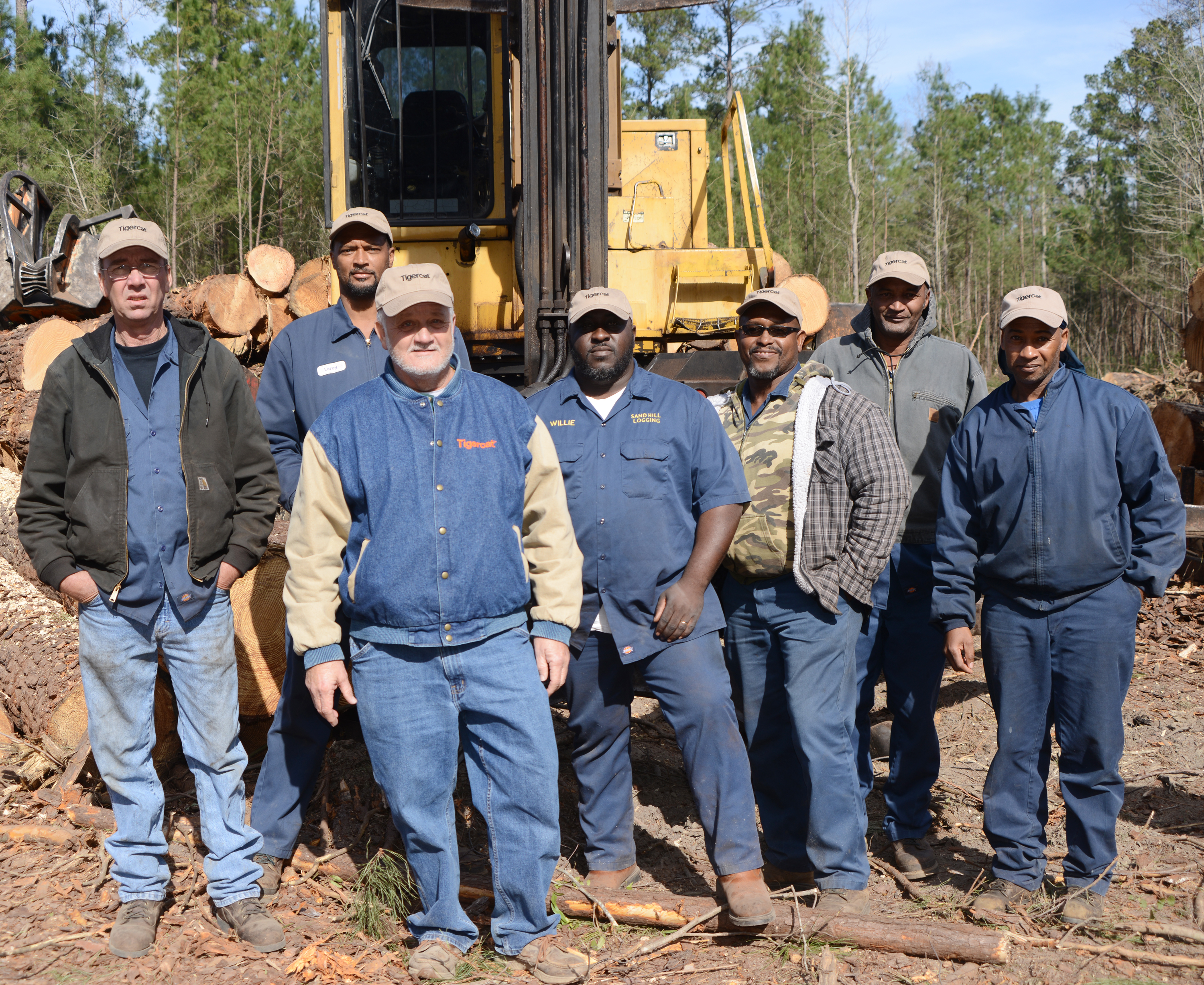 The Sand Hill crew. (L-R) Pete Frickling, Leroy Ruth, Alvin Dobson, Willie Walls, Lil Daddy, Charles Ruth and Carl Duncan.