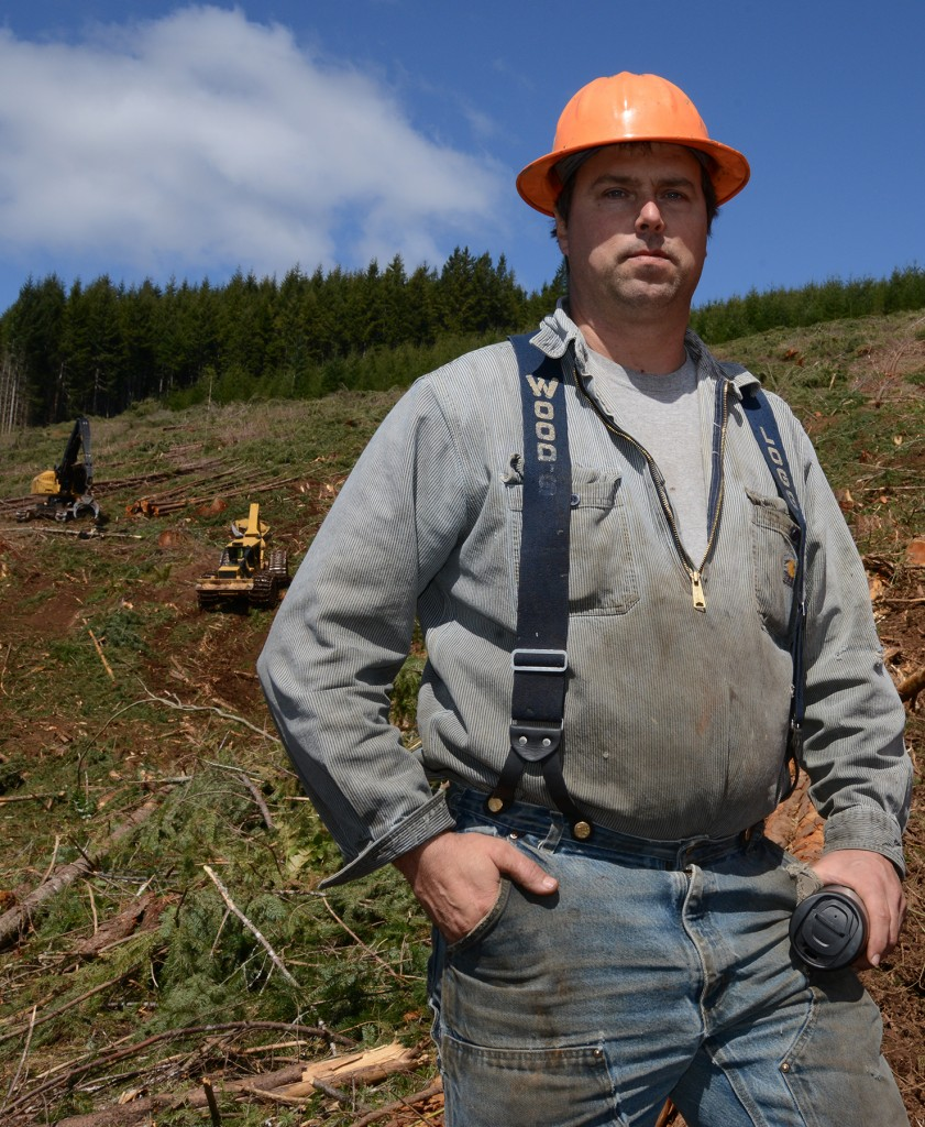 Eric Krume, owner of Krume Logging and Summit Attachments and Machinery stands in front of his operation.