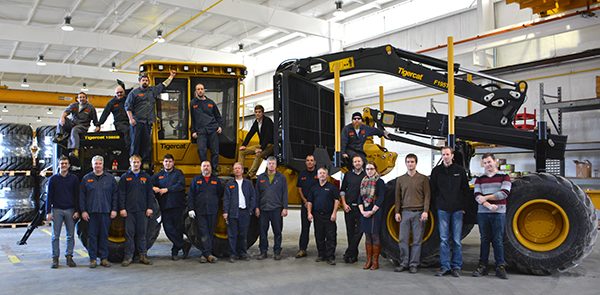 Forwarder and wheeled harvester team at 140 Consolidated Drive in Paris, ON.