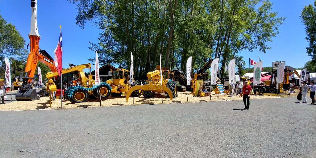 Tigercat - Latin Equipment stand at EXPOCORMA